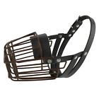 Black Dog Muzzle Metal Wire Basket Cage for Bulldog Pitbull Anti-Bite Chewing