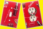 Coca Cola Light Switch wall plate covers man cave bedroom room decor coke