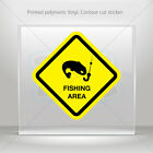 Decal Stickers Fishing Area Sign Helmet Atv Bike durable vinyl bike mtv ZK2X6
