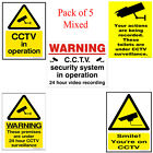 5 X CCTV SECURITY CAMERA SAFETY SIGN PRINTED ON RIGID FOAMEX BOARD A4 SIZE