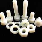 M10 x 16mm M10 x 20mm M10 x 40 NYLON SOCKET CAPS + NYLON WASHER + NYLON FULL NUT