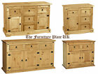 Corona Waxed Pine Sideboard 2 3 Drawers  2 3 4 Doors - Listed Individually