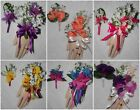 2PC Wrist Corsage Boutonniere Set with Lily Of The Valley & Orchid many colors