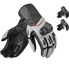 Rev It Chevron 2 Leather Motorcycle Gloves Motorbike Vented Summer Carbon Armour