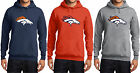 New Denver Broncos Hoodie Hooded Sweatshirt NFL Super Bowl 50 Champs Champions
