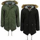 Mens Parka Jacket Tokyo Laundry Kronen Faux Fur Lined Hooded Parker Winter Coat