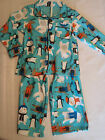 CARTERS Boys Size 2T Polyester Flannel Pajama Pant Button Up Top NWT Sleepwear