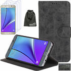 EEEKit For Samsung Galaxy Note 5,Flip Wallet Stand Case+3 PCS Screen Protector