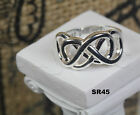 Solid 925 Silver Best Friend Forever Double Infinity Hypoallergenic Ring-New!