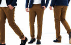 Casual Mens Chino Trousers Slim Fit Regular Pants Straight Leg Skinny Jeans New