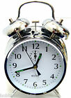 Acctim Saxon Double Bell Alarm Clock Wind Up Alarm Clock Keywound Beside Clock L