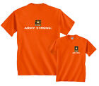 Army Strong Star Logo Armed Forces Front & Back T-Shirt distressed