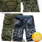 Men's Fashion Cargo Pants Casual Trousers Military Combat Army CAMO Shorts ld
