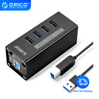 ORICO Hub Splitter 4 Ports USB 3.0 with Power Adapter For PC Laptop Macbook etc