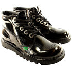 Unisex Kids Youth Kickers Kick Hi Black Patent Back To School Boots Shoes UK 3-6