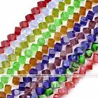 "8mm Crystal Glass Square Cubic Loose Bead 1strand 13.5"" Jewelry Charms Findings"