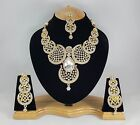 Indian Bollywood Style Fashion Gold Plated Bridal Jewelry Necklace Set, Style 3