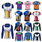 Men Dragon Ball Z Vegeta Son Goku 3D T-Shirts Short/Long Cycling Super Saiyan