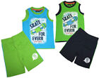☼NEU☼ Shorty Set: Top & Shorts aus BW Jersey für Boys BLUE SEVEN Farb & Gr.Wahl