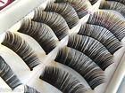 10 Pairs Thick Natural Re-Useable Fake False Eye Lashes Makeup UKSeller Free P&P