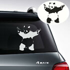 Auto Window Body Black&White Funny Panda With Guns Killer Vinyl Sticker Emblem
