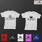 Crowned King & Queen Top Quality T-SHIRTS HIS & HERS GREAT GIFT AND CASUAL