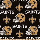 """100% Cotton Fabric Pre Cut New Orleans Saints 58"""" Wide NFL Licensed Sold BTY!"""