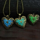 New Womens Charms Heart Glow In The Dark Pendant Necklace Chain Jewelry Collar
