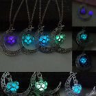 New Chic Womens Charms Moon Glow In The Dark Pendant Necklace Chain Jewelry gift