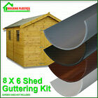 GARDEN SHED MINI GUTTERING KIT FOR 8X6 SHED WITH APEX ROOF - 2 SIDES OF SHED