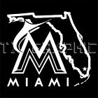Decal For  Miami Marlins Map Baseball Florida Map  Window Vinyl Sticker on Ebay