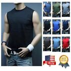 Men Muscle Sleeveless T-Shirt Tank Top Workout Casual Tee Gym Hiking Beach Comfy image