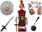 BOYS ROMAN GENERAL KIDS SPARTA SOLDIER FANCY DRESS OUTFIT COSTUME 4-12 YEARS