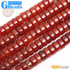 Natural Rondelle Agate Gemstone Jewelry Making Heishi Spacer Beads Strand 15""