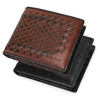 Men's Genuine Leather Wallet Casual horizontal brown black ID credit card holder
