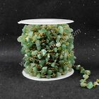 16Ft 5~10mm Green Aventurine Chips Bead Chain DIY Jewelry Findings AJT047