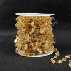 16Ft 5~10mm Natural Citrine Chips Bead Chain DIY Jewelry Findings AJT048