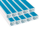 PVC PLASTIC SELF ADHESIVE MINI TRUNKING IN A RANGE OF SIZES 3 METRE LENGTHS