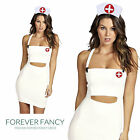 Nurse Naughty Fancy Dress Costume Ladies Womens Sexy Nurses Outfit UK 8 - 18
