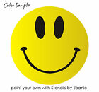 STENCIL Smiley Guy Happy Face Smile Shape Sunshine Good Day Art Signs U Paint