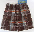 New 3-6 Month Gymboree Brown Plaid Cargo Shorts
