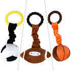 Didog 10pcs Sport Dog Plush Cotton Toys Dog Braided Rope Playing Ball Squeaker