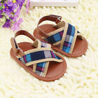 Infant Baby boy Soft-soled brown Sandals shoes size 0-6 6-12 12-18 months