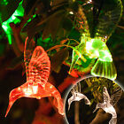 10 Colour Changing / Warm White LED Hummingbird Solar Garden Fairy String Lights