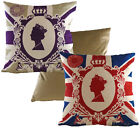 Her Majesty The Queen 90th Birthday Premium Fabric Pre Filled Chenille Cushion