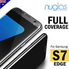NUGLAS Full Coverage Tempered Glass Screen Protector For Samsung Galaxy S7 EDGE