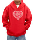 CHRISTMAS Tribal Love Heart personalised diamante hood sweatshirt -ideal present