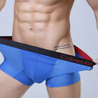 Trunk Mens Boxer Briefs Underwear Sexy Mesh Black Red Size XL Underpants Swimmer