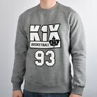 K1X Barcelona Crewneck crew men NEW 1161-2002-8801 grey heather white black
