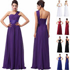 Long Formal Evening Dress Wedding Cocktail Ball Prom Bridesmaid One Shoulder